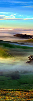 Morning Fog Over Two Rock Valley Diptych Print by Wernher Krutein