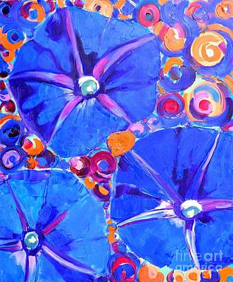 Morning Glory Flowers Print by Ana Maria Edulescu