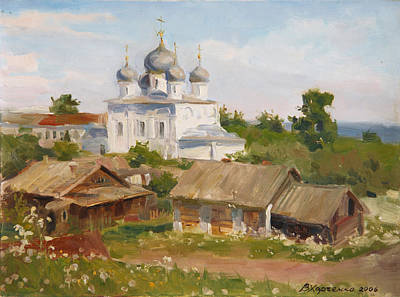 Old Time Painting - Morning In Belozersk by Victoria Kharchenko