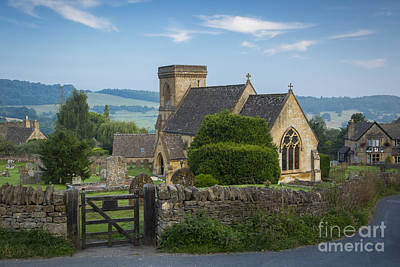 Chapel Of Ease Photograph - Morning In Snowshill by Brian Jannsen
