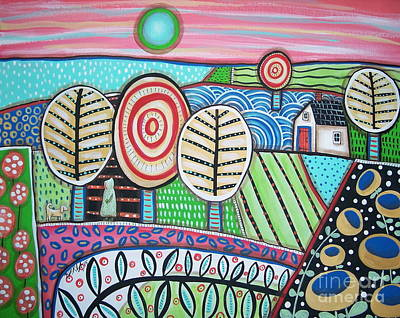 Modern Folk Art Painting - Morning by Karla Gerard