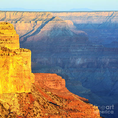Arizona Photograph - Morning Light Contrast Canyon Colors Grand Canyon National Park Square by Shawn O'Brien