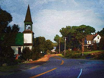 Morning Light Mount Vernon Maine Print by Joy Nichols