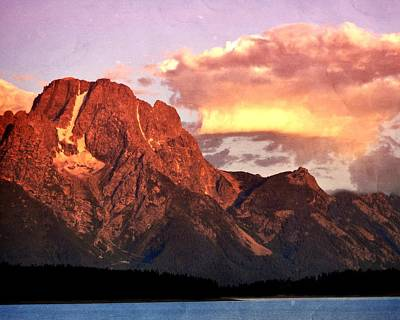 Morning Light On The Tetons Print by Marty Koch