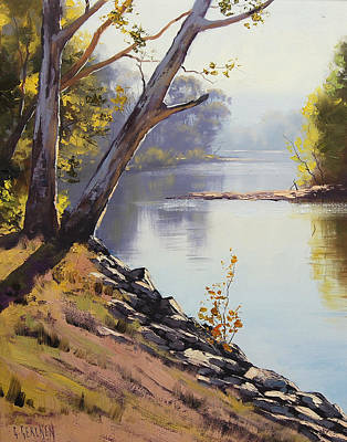 Creek Painting - Morning Light Tumut River by Graham Gercken