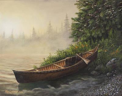 Pine Tree Painting - Morning Mist by Kim Lockman