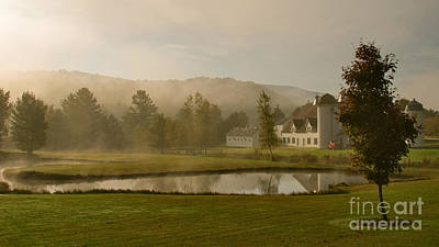 Morning Photograph - Morning Mist On The Farm by Charles Kozierok