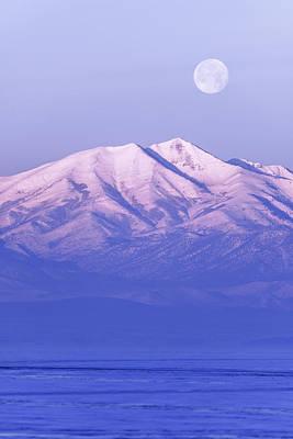 Alpine Photograph - Morning Moon by Chad Dutson