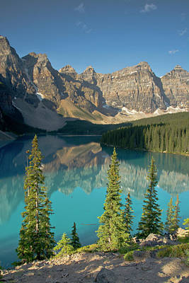 Moraine Lake Photograph - Morning, Moraine Lake, Banff National by Michel Hersen