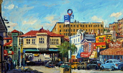 Urban Subway Painting - Morning On 231st Street The Bronx by Thor Wickstrom