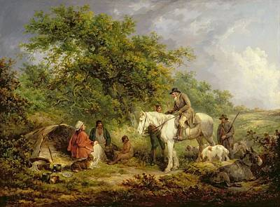 Morning, Or The Benevolent Sportsman Print by George Morland