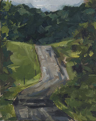 Summer Thunderstorm Painting - Morning Path by David Owens