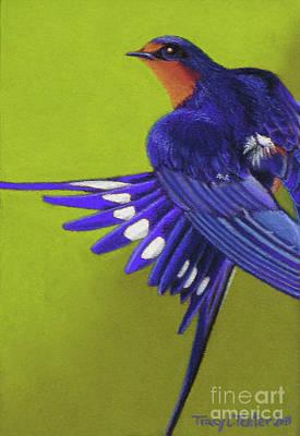 Morning Ritual Barn Swallow Print by Tracy L Teeter