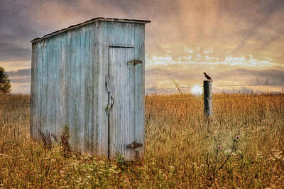Antique Outhouse Photograph - Morning Ritual by Lori Deiter