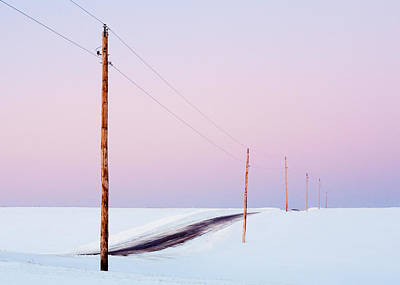 Plow Photograph - Morning Road by Todd Klassy