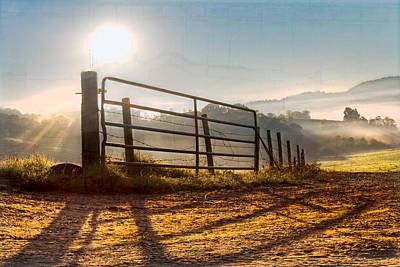 Old Country Roads Photograph - Morning Shadows by Debra and Dave Vanderlaan