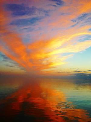 Morning Sky Ocracoke Nc Print by Joan Meyland