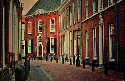 Holland Photograph - Morning Street In Utrecht by Jenny Rainbow