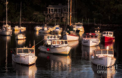 Morning Sun On Perkin's Cove Print by Jerry Fornarotto