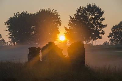 Golf Photograph - Morning Sunrise At Philadelphia Cricket Club by Bill Cannon
