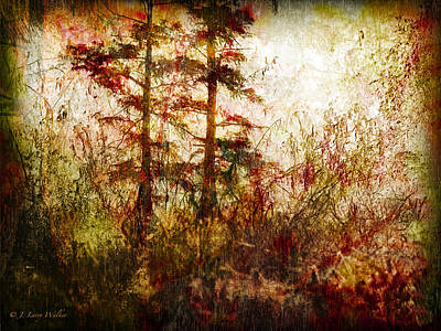 Morning Sunrise Burst Of Color Print by J Larry Walker