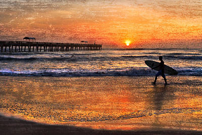 Sunset At The Bridge Photograph - Morning Surf by Debra and Dave Vanderlaan