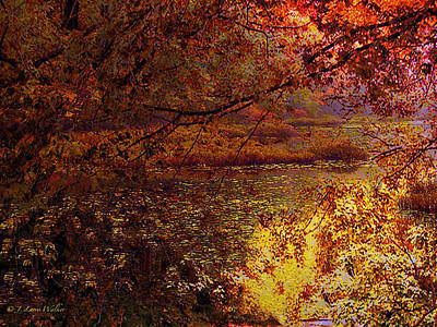 Morning Tranquility Print by J Larry Walker