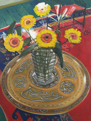 Moroccan Vase Painting - Moroccan Prayer  Table  by Pacifico Palumbo