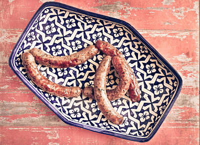 Beef Photograph - Moroccan Sausages by Tom Gowanlock