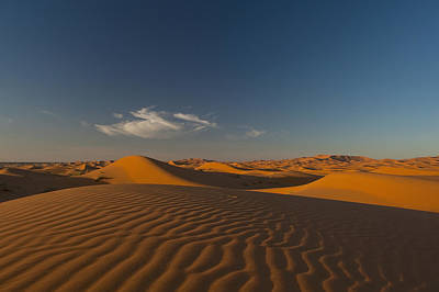 Simple Beauty In Colors Photograph - Morocco, Sand Dune At Dusk by Ian Cumming