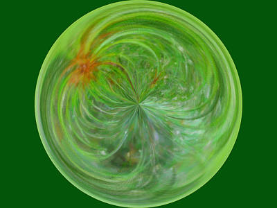 Morphed Photograph - Morphed Art Globe 5 by Rhonda Barrett