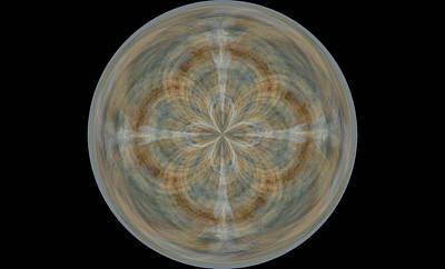 Morphed Digital Art - Morphed Art Globes 25 by Rhonda Barrett