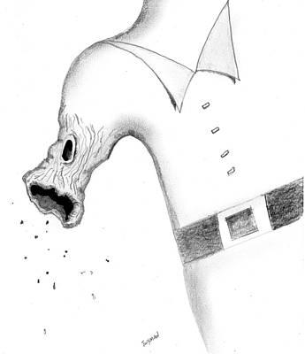 Surreal Drawing - Morphing by Dan Twyman