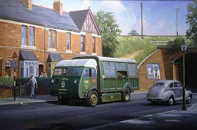 Morrison Painting - Morrison Dustcart by Mike  Jeffries