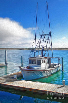 Morro Bay Fishing Boat Print by Gregory Dyer
