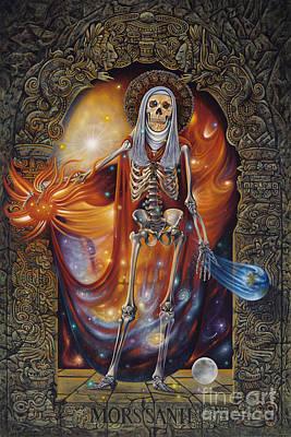 Reaper Painting - Mors Santi by Ricardo Chavez-Mendez