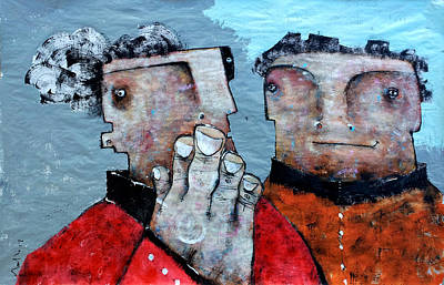 Mark M. Mellon Painting - Mortalis No 7 by Mark M  Mellon