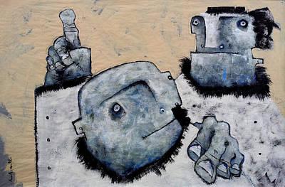 Mark M. Mellon Painting - Mortalis No 9 by Mark M  Mellon