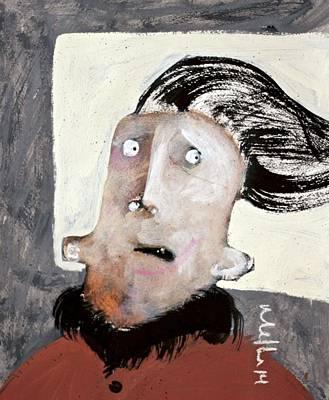 Hair Abstract Art Painting - Mortalis No.29 by Mark M  Mellon