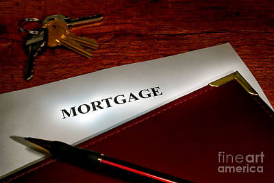 Mortgage Documents Print by Olivier Le Queinec