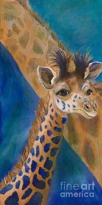Giraffe Painting - Mortimer by Lynn Rattray