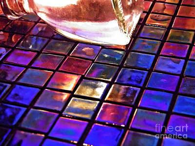 Iridescent Glass Photograph - Mosaic 6 by Sarah Loft