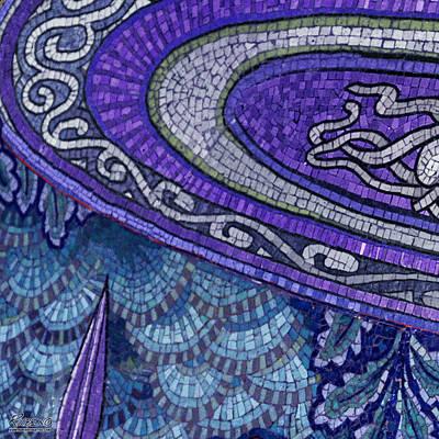 Mosaic Mixed Media - Mosaic Abstract by Tony Rubino