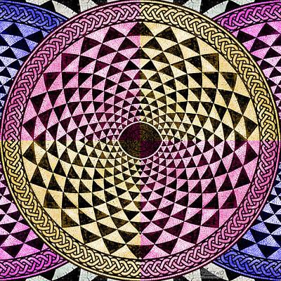 Mosaic Circle Symmetric  Original by Tony Rubino