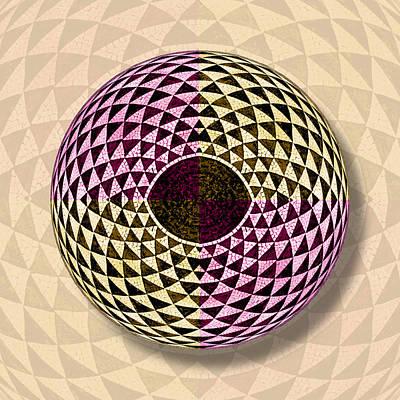 Mosaic Eye Orb Original by Tony Rubino