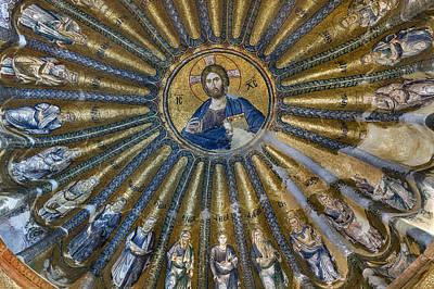 Mosaic Of Christ Pantocrator Print by Ayhan Altun
