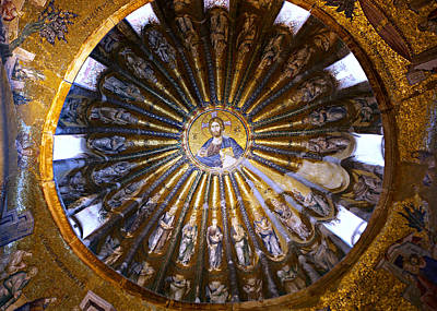 Byzantine Photograph - Mosaic Of Christ Pantocrator by Stephen Stookey