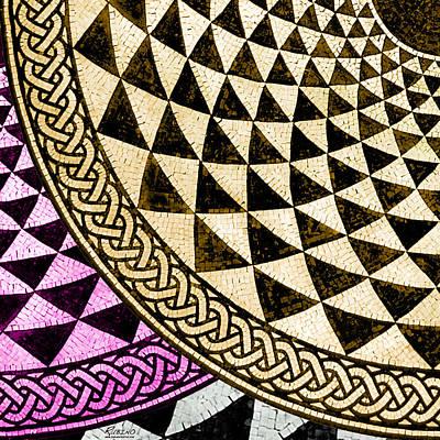 Mosaic Quarter Circle Bottom Left  Original by Tony Rubino