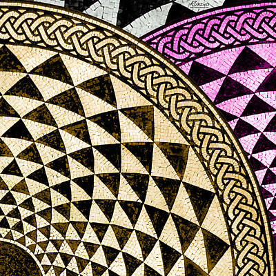 Mosaic Quarter Circle Top Right  Original by Tony Rubino