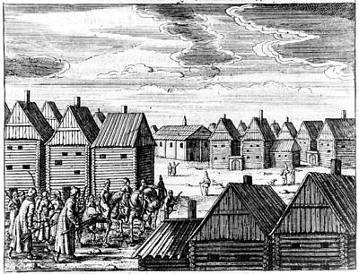 Moscow Drawing - Moscow, 17th Century by Granger